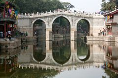 View from the Summer Palace with beautiful bridge Stock Photo
