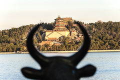 View of Summer Palace from the copper bull Stock Photos