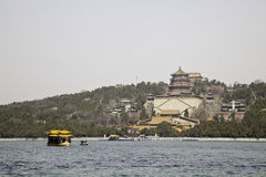 View of summer palace from kunming lake Royalty Free Stock Image