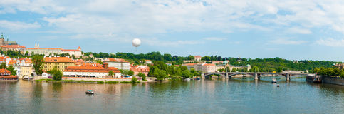 View on summer Prague above River Vltava Royalty Free Stock Images