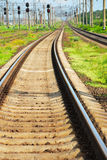 View on summer railroad Royalty Free Stock Photo