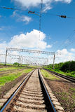 View on summer railroad Royalty Free Stock Images
