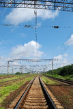 View on summer railroad Royalty Free Stock Image