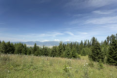 View on the summer Slovakia Mountains High Tatras Royalty Free Stock Images