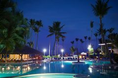 View of summer tropical resort at night Stock Image