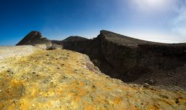 View of Summit crater on Etna royalty free stock photo