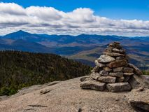 Adirondack Mountain Summit, Rock Cairn Royalty Free Stock Photography