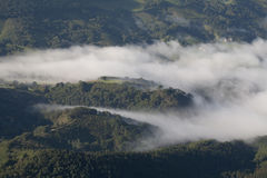 View from the Summit of Mont La Rhune. Royalty Free Stock Photography