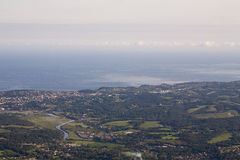 View from the Summit of Mont La Rhune. Royalty Free Stock Image