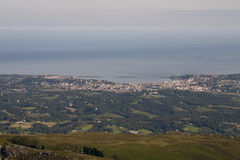View from the Summit of Mont La Rhune. Stock Photography