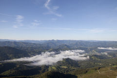 View from the Summit of Mont La Rhune. Stock Photos