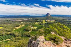 View from the summit of Mount Ngungun, Glass House Mountains, Su Royalty Free Stock Photos