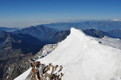 View from the summit of Mount Rosa Stock Photos