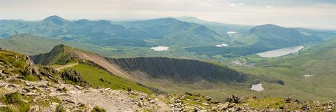 View from Mount Snowdon, Wales, UK Royalty Free Stock Photography