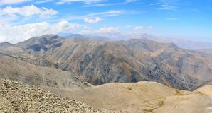View from the summit of Mountain Babadag 3629 m in Azerbaijan Stock Photos