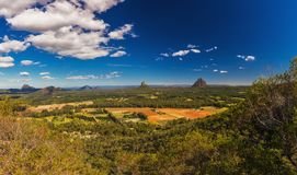 View from the summit of Mt Coochin, Glass House Mountains, Sunshine Coast, Queensland, Australia royalty free stock photos