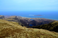 View from the summit on the ocean. View from the summit on ocean and little islands Stock Images