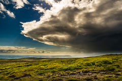 A view from the summit of Pendle Hill Stock Photography