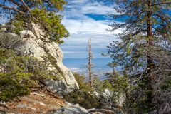 View from Summit of San Jacinto Peak stock photos