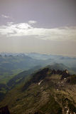 View from the Summit. Of Santis in the Alpstein Massif in the Alps royalty free stock images