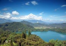 View of the Sun Moon Lake. The beautiful Sun Moon Lake in central Taiwan stock photos