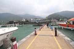 View of Sun Moon Lake in Taiwan Royalty Free Stock Photography