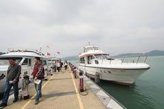 View of Sun Moon Lake in Taiwan Stock Photo