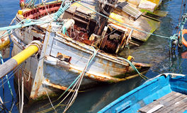 View of the sunken ship Stock Photography