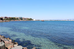 View of Sunny Beach, Nessebar, Bulgaria Royalty Free Stock Image