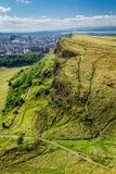 View of sunny Edinburgh royalty free stock photos