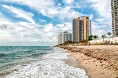 View of Sunny Isles Miami beach in Florida. Stock Photo