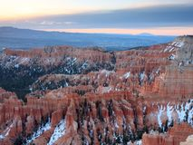 View of Sunrise in Bryce Canyon Royalty Free Stock Photos