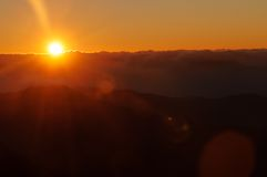 View of sunrise from Devikulam hill. Munnar Royalty Free Stock Photography