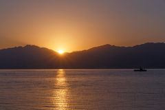 View on sunrise from Eilat Stock Photos