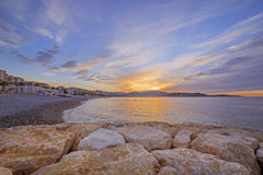 View on sunrise in Nice Royalty Free Stock Images