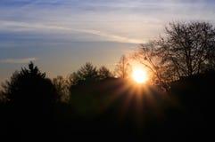 View on sunrise Royalty Free Stock Image