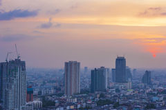 View the sunset in bangkok Royalty Free Stock Images