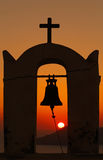 View on sunset through bell tower Royalty Free Stock Photography