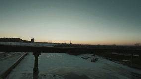 View of the sunset. From the bridge stock footage