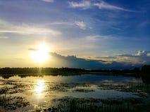 View. Sunset cloud stock photos