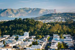 View of the Sunset District and San Francisco Bay  Royalty Free Stock Images