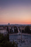 View of sunset in Rome Stock Photos