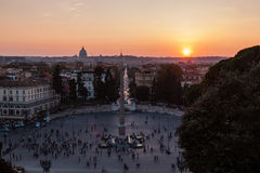View of sunset in Rome Stock Images