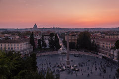 View of sunset in Rome Royalty Free Stock Image