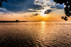 View of sunset Songkhla. Stock Photo