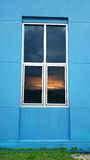 View of Sunset at window royalty free stock photos
