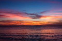 View of sunset on Zanzibar Island. Tanzania royalty free stock photo