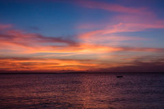 View of sunset on Zanzibar Island Stock Photography