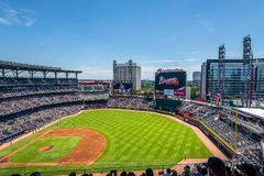 Atlanta`s SunTrust Park in Atlanta, Georgia stock images
