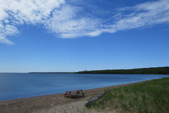 View of the Superior Lake stock photography